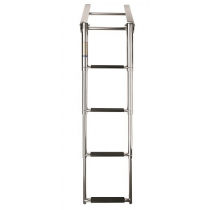 VETUS Telescopic Stainless Steel Aisi 316 Boarding Ladder with 4 Steps, Synthetic Black Grips