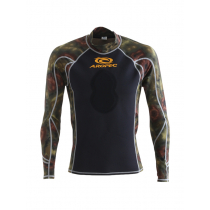 Aropec Spearo Camouflage Mens Rash Guard Green XL