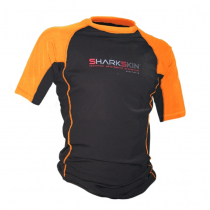 Sharkskin Rapid Dry Short Sleeve Rash Top Black/Hi-Vis Orange M