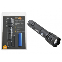 370 Lumen USB Rechargeable LED Torch with Adjustable Beam