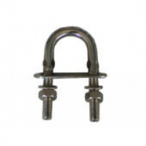Cleveco U-Bolts 316 Stainless Steel with Nut and Double Plate