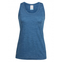 Icebreaker Womens Merino Hybrid Sphere Tank Prussian Blue Heather M