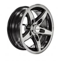 """Treadway Trailer Wheel Rim 14x5.5"""" Alloy Blade Slvr/Black 5x4.5"""" PCD"""