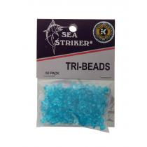 Sea Striker Tri-Beads Aqua Qty 50