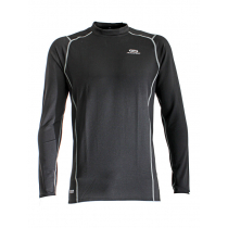 Aropec Quick-Dry Mens Long Sleeve Thermal Top Dark Grey M