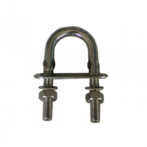 Cleveco 316 Stainless Steel U-Bolt with Two Nuts and One Plate