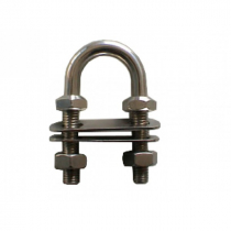 Cleveco 316 Stainless Steel U-Bolt with Four Nuts and Two Plates