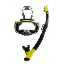 TUSA Sport Imprex 3D Dry Adult  Mask and Snorkel Set Black/Yellow