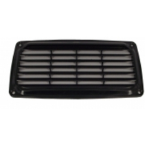 Abs Louvre Vent 201 x 101mm Black