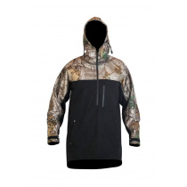 Kaiwaka Mens Weathershield Camo Half Zip Long Sleeve Hoodie