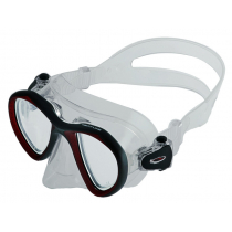 Neptune Titan Adult Dive Mask Red