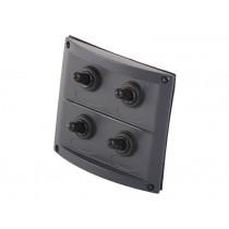 splashproof 4 way switch panel