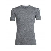 Icebreaker Mens Merino Oasis Short Sleeve Crewe Shirt Gritstone Heather