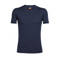 Icebreaker Mens Merino Oasis Short Sleeve Crewe Fathom Heather