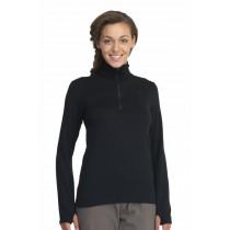Icebreaker Womens Original Long Sleeve Half Zip Top Black