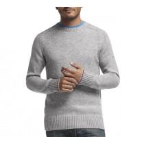 Icebreaker Mens Wool Long Sleeve Shirt Light Grey Medium