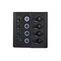 LED 4-Way Switch Panel with 15A Circuit Breakers