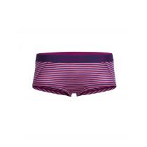 Icebreaker Womens Merino Sprite Hot Pants Tulip/Vivid/Stripe