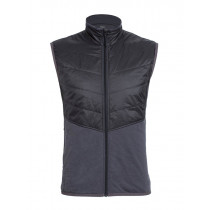 Icebreaker Mens MerinoLOFT Ellipse Vest Monsoon/Black
