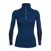 Icebreaker Womens Merino Winter Zone LS Half Zip Shirt Largo/Midnight Navy