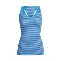 Icebreaker Womens Sprite Tank Top Mist Blue Heather/Cobalt/Stripe