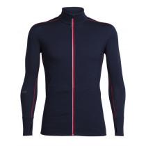 Icebreaker Mens Merino Incline Zip Long Sleeve Shirt Midnight Navy/Rocket