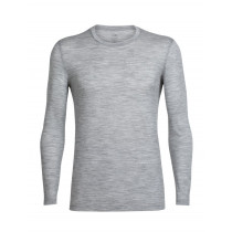 Icebreaker Mens Merino Tech Lite Long Sleeve Crewe Metro Heather