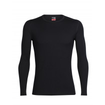Icebreaker Mens Merino Tech Top Long Sleeve Crewe Shirt Black