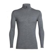 Icebreaker Mens Merino Tech Top Long Sleeve Half Zip Shirt Gritstone Heather