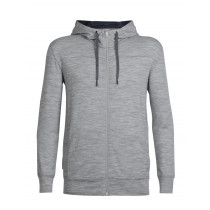 Icebreaker Mens Merino Shifter Zip Hoodie Metro Heather/Fathom Heather
