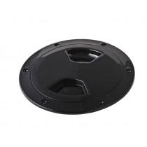 Waterproof ABS Inspection Port Black 102mm