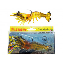 Fish Candy Wild Prawn Soft Bait 120mm Native Prawn