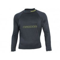 Maddog Mens Long Sleeve Rash Top Black S
