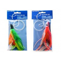 FishFighter Glitter Rigged Feather Tuna Fishing Lure