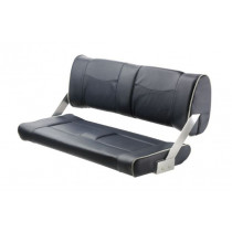 V-Quipment Ferry Bench Seat with Adjustable Backrest White