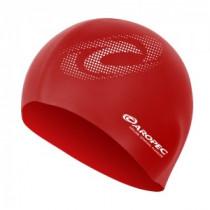 Aropec Adult Silicone Volume Swim Cap Red