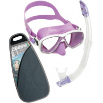 Cressi Marea and Gamma Adult Mask and Snorkel Set Lilac