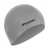 Aropec Adult Silicone Volume Swim Cap Silver