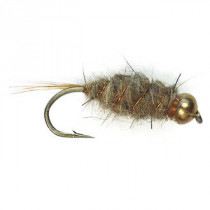 Black Magic Goldbead Hare and Copper Trout Fly Size B14 Qty 1