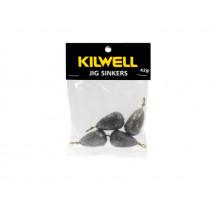 Kilwell Tear Drop Swivel Sinkers Pack 42g 1 1/2oz Qty 4