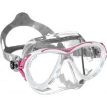 Cressi Eyes Evolution Crystal Mask Clear/Pink