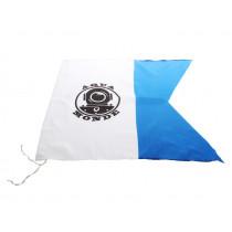 AquaMonde Blue/White Dive Flag with Attachment String 60x60cm