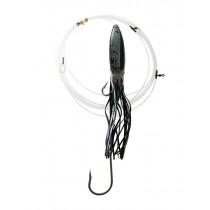 Bonze Swordfish Rig with Single J Hook and Squid Skirt Combination