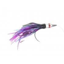 Hex Head Rigged Skippy Bungy Lure Black Purple
