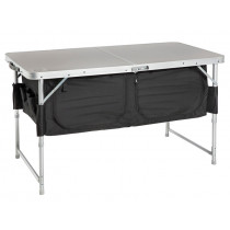 Kiwi Camping Bi-Fold Camp Table with Pantry 120 x 60 x 54/68cm