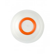 Palm Sorona Unbreakable White Bowl with Orange Non-Slip Ring