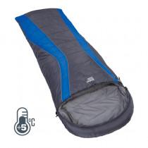 Explore Planet Earth Buckley Hooded Sleeping Bag Blue +5degC