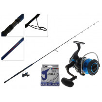 Daiwa Saltist 5000 and Saltist Demon Blood Stickbait Combo with Line 8ft PE 4-6 4pc