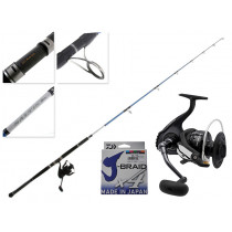 Daiwa Saltist Nero 8000 and Hyper 82XH Stickbait Combo with Line 8ft PE8 2pc