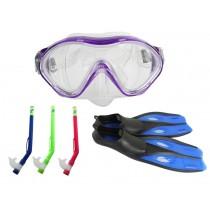 Kids Mask Snorkel and Fins Set